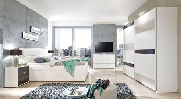 Preiswertes Komplett-Schlafzimmer Sinopoli in Weiß