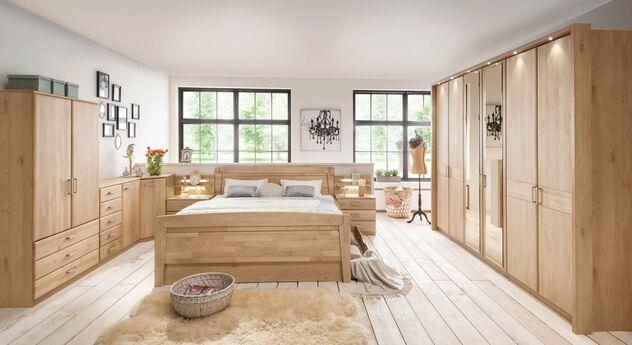 Komplett-Schlafzimmer Temara mit zeitlosen Möbeln