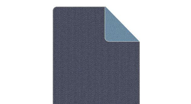 Anschmiegsame Kuscheldecke s.Oliver Stitch in Blau