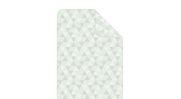 Mintfarbene Kuscheldecke Triangel aus 100% Baumwolle