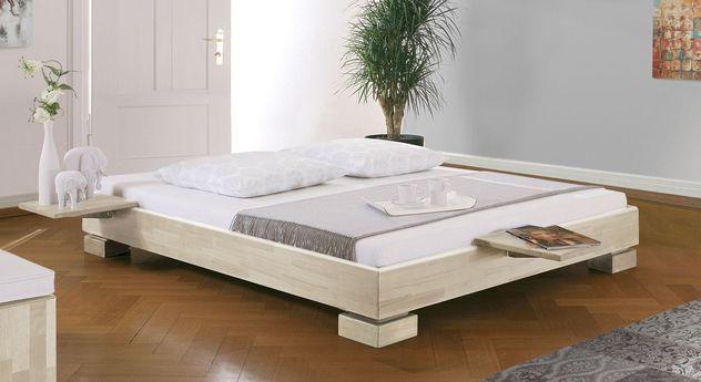 Weiße Liege Como mit 18 cm Bettrahmenhöhe