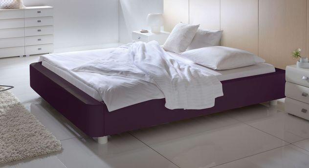 Dunkle Liege Harmony aus violettem Kunstleder