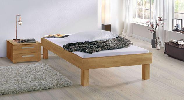 Buchen-Liege Madrid Komfort mit 25 cm Fußhöhe