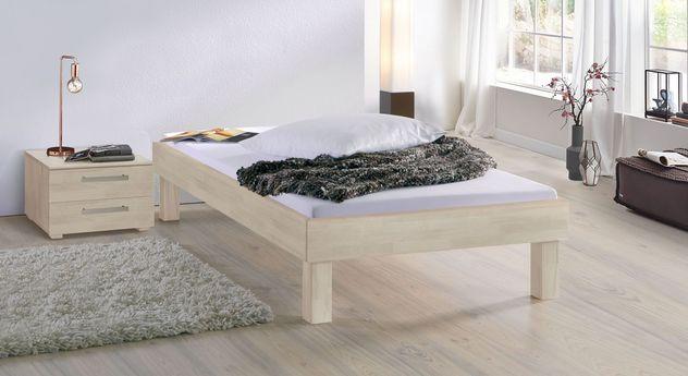 Weiße Liege Madrid Komfort mit 25 cm Fußhöhe