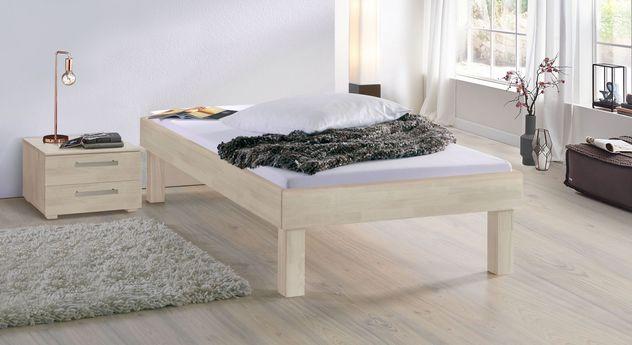 Weiße Liege Madrid Komfort mit 30 cm Fußhöhe