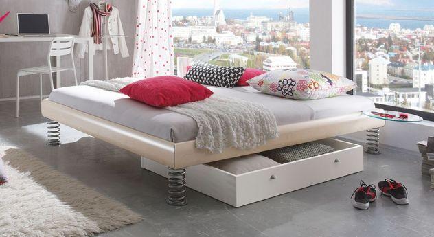liege mit sprungfedern z b in nussbaum holznachbildung wereda. Black Bedroom Furniture Sets. Home Design Ideas