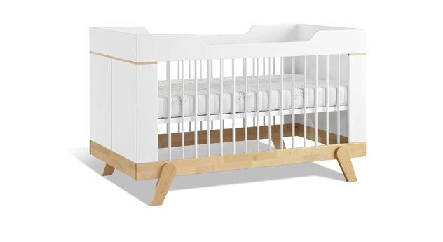 Sicheres LIFETIME Babybett Monina aus massivem Holz
