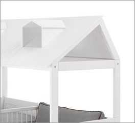 Praktisches LIFETIME Bett & Sofa Ferienhaus mit Dachfenstern