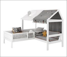 LIFETIME Bett & Sofa Ferienhaus geeignet für Jungs und Mädchen