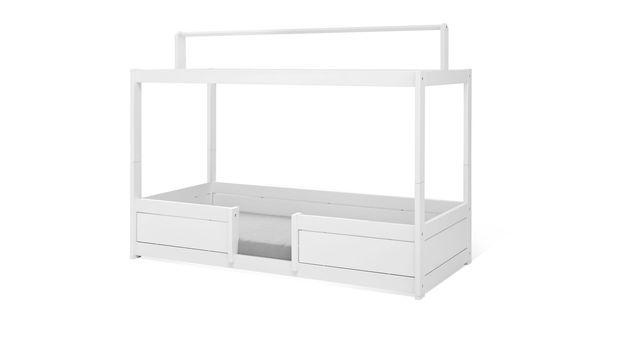 Bodentiefes LIFETIME Himmelbett Variante für Kinderbetten mit Dachfirst