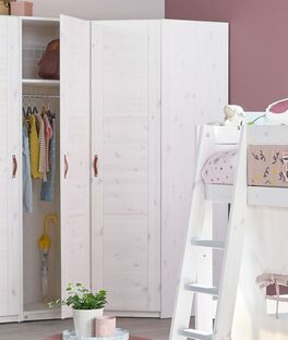 LIFETIME Eck-Kleiderschrank Original aus Kiefernholz