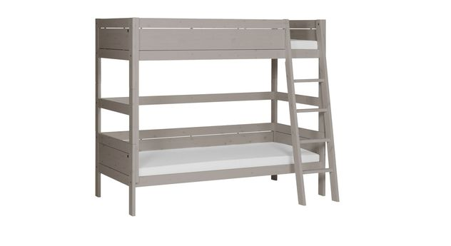 LIFETIME Etagenbett Color mit grau lasierter Frontfüllung