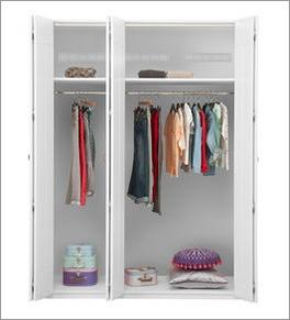 LIFETIME Falttüren-Kleiderschrank mit individueller Innenausstattung