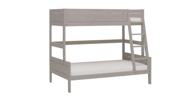 LIFETIME Familienbett Original aus grau lasierter Kiefer