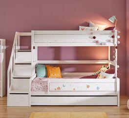 LIFETIME Familienbett Original mit Treppenmodul für 2 Kinder