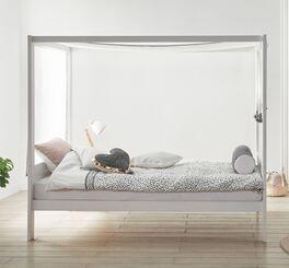 LIFETIME Himmelbett Living Style mit weißem Baldachin