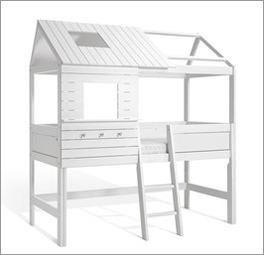 LIFETIME Hütten-Hochbett Sternenglanz mit schräger Leiter