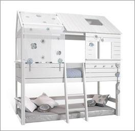 Stabiles Hütten-Hochbett Sternenglanz von LIFETIME mit Absturtzsicherung