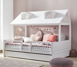 LIFETIME Kinderbett Ferienhaus inklusive Absturzsicherung