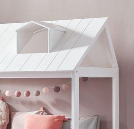 LIFETIME Kinderbett Ferienhaus mit Dach-Aufsatz