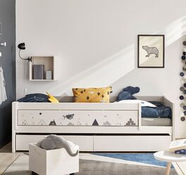 Modernes LIFETIME Kinderbett Space Dream in Grau