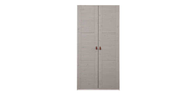 LIFETIME Drehtüren-Kleiderschrank Monina in Grau lasiert