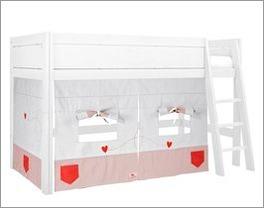 Schlichtes LIFETIME Midi-Hochbett Sweet Rose für Kinder