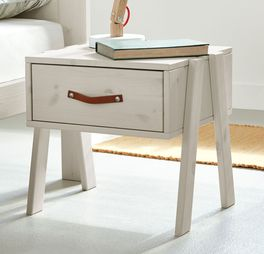 LIFETIME Nachttisch Original mit ausgestellten Holzbeinen