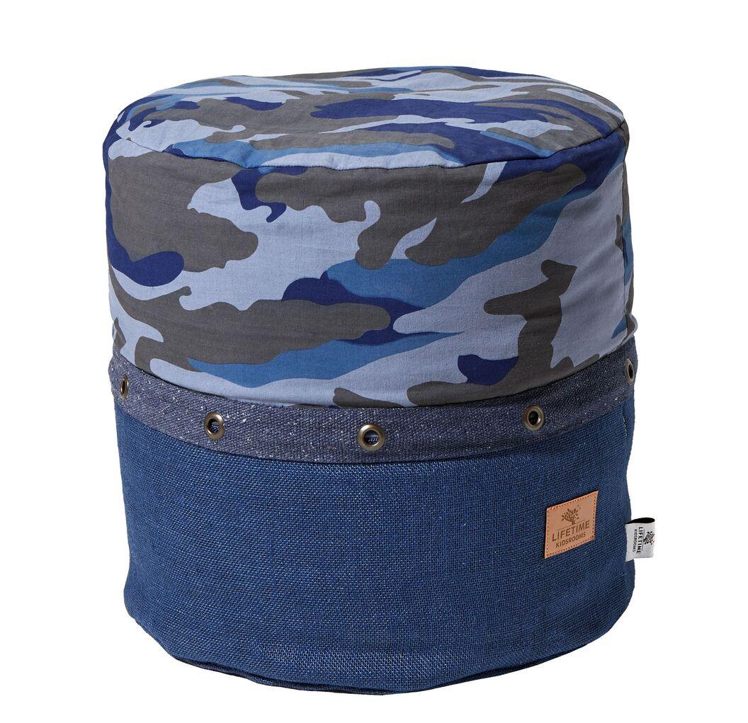 LIFETIME Sitzkissen Camouflage Pouf für Jugenzimmer