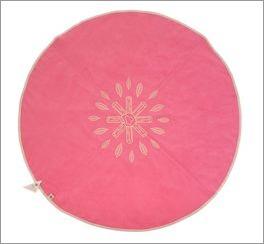 Pinker LIFETIME Teppich Lagerfeuer mit zentriertem Motiv