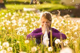 Mädchen mit Allergie