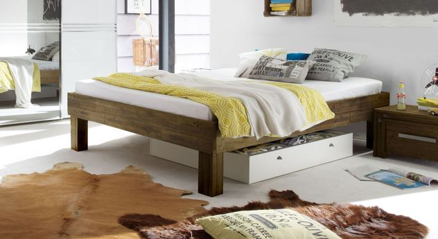 Massivholz-Liege Caldera mit komfortabler Liegehöhe