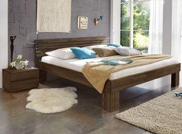 Massivholzbett Wood Romance in wengefarben