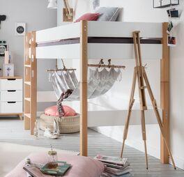 Midi-Hochbett Kids Nordic mit stabiler Absturzsicherung