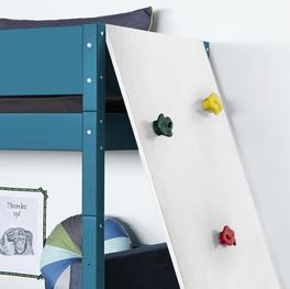 Midi-Hochbett Kids Town Color mit am Fuß- oder Kopfteil zu befestigender Kletterwand