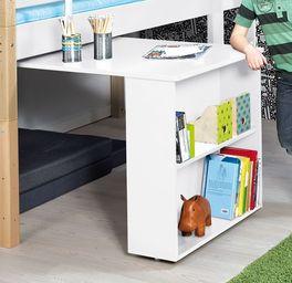 Mini-Hochbett Kids Town mit Auszieh-Schreibtisch inklusive höhenverstellbaren Einlegeböden