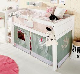 Weißes Mini-Hochbett Sioux für Kinder-Zimmer