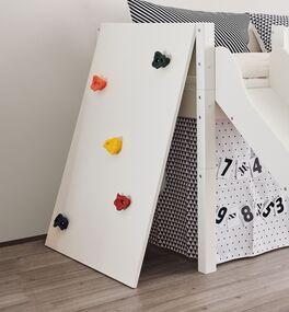 Mini-Rutschen-Activity-Hochbett Kids Town mit Kletterwand für Kinder