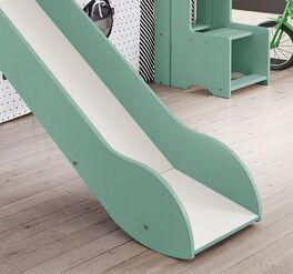 Hochwertiges Mini-Rutschen-Hochbett Kids Town Color mit Kletterwand