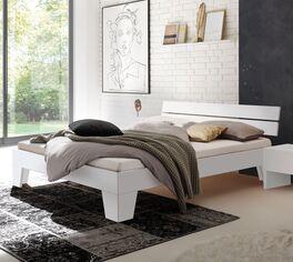 Modernes Design-Bett Kieran in Weiß