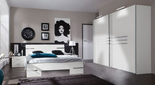 130 cm breite schubladen kommode in wei mit 6 f chern manati. Black Bedroom Furniture Sets. Home Design Ideas