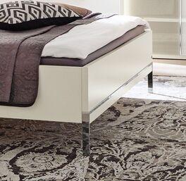 MUSTERRING Bett San Diego Weiß mit verchromten Füßen