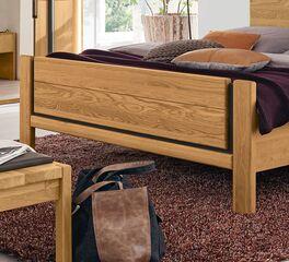 MUSTERRING Bett Sorrent mit schiefergrauen Elementen am Fußteil