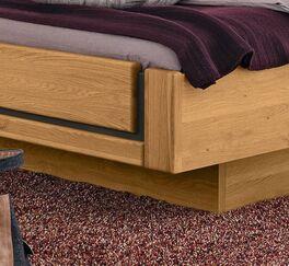 MUSTERRING Bett Sorrent in Schwebeoptik mit massivem Fußteil