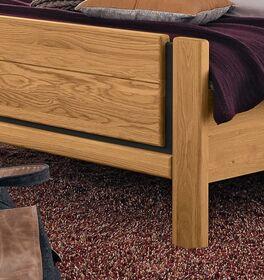 MUSTERRING Bett Sorrent mit spannendem Fußbereich