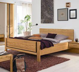 Klassisches MUSTERRING Bett Sorrent aus teilmassiver Eiche