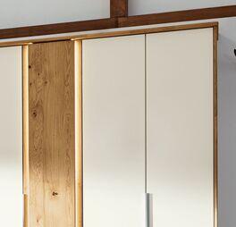 Musterring Drehtüren-Kleiderschrank Saphira Weiß optional mit Licht