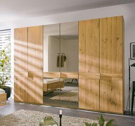 MUSTERRING Drehtüren-Kleiderschrank Savona 2.0 Spiegel mit Massivholz-Fronten