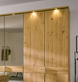 MUSTERRING Drehtüren-Kleiderschrank Savona 2.0 Spiegel im natürlichen Look