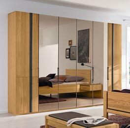 MUSTERRING Falttüren-Kleiderschrank mit mittiger Spiegelfront